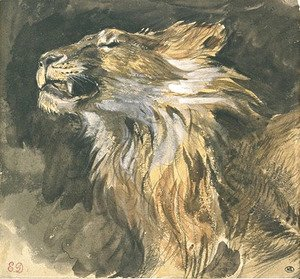 Roaring lion's head