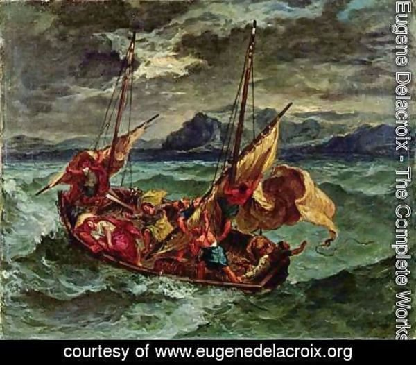 Eugene Delacroix - Christ on the Lake of Gennezaret 1854