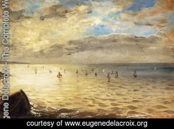 Eugene Delacroix - The Sea from the Heights of Dieppe 1852