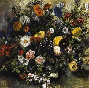 Eugene Delacroix - Bouquet of Flowers 1849-50