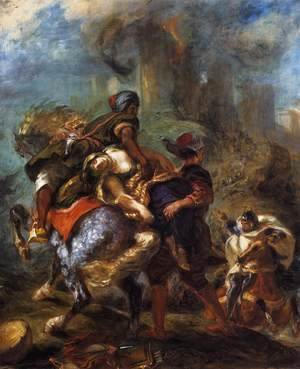 Eugene Delacroix - The Abduction of Rebecca 1846