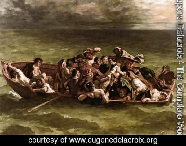 Eugene Delacroix - Shipwreck of Don Juan 1840