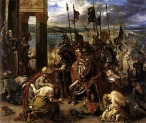 Eugene Delacroix - The Entry of the Crusaders into Constantinople 1840