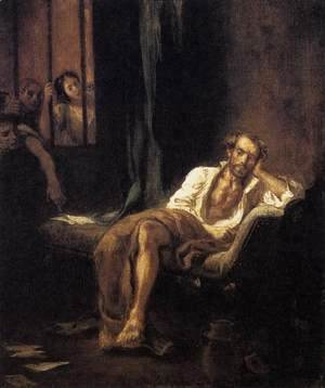 Eugene Delacroix - Tasso in the Madhouse 1839