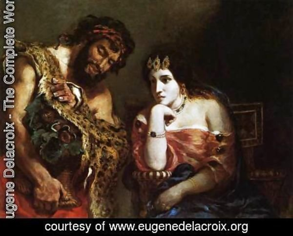 Eugene Delacroix - Cleopatra and the Peasant 1838