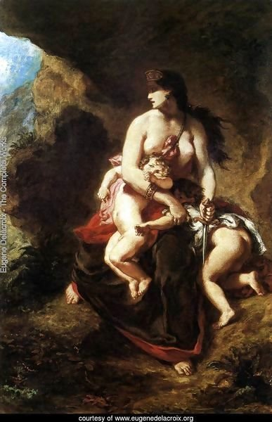 Medea about to Kill her Children 1838