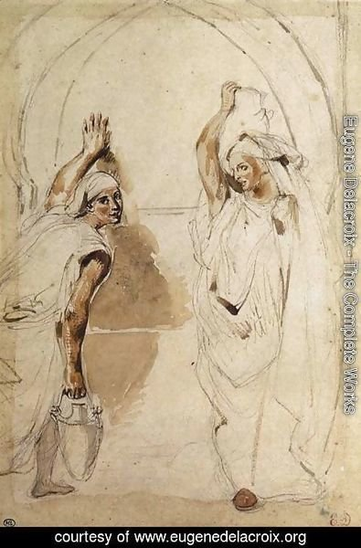 Eugene Delacroix - Two Women at the Well 1832