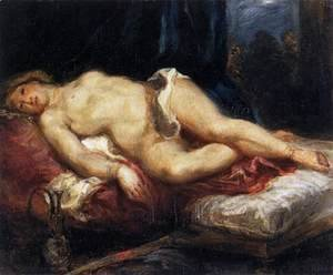 Odalisque Reclining on a Divan 1827-28