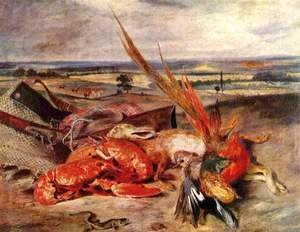Eugene Delacroix - Still-Life with Lobster 1826-27