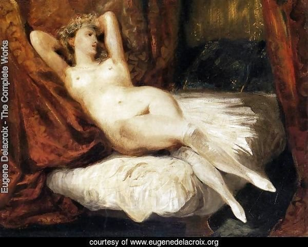 Female Nude Reclining on a Divan 1825-26