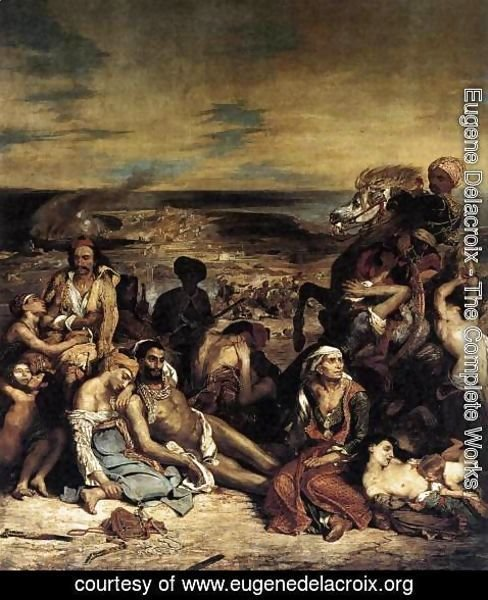 Eugene Delacroix - The Massacre at Chios (1) 1824