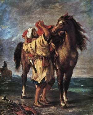 Eugene Delacroix - Marocan And His Horse