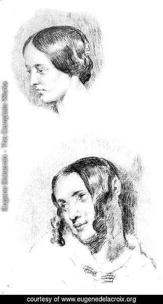 Study For Jenny Le Guillou And Josephine De Forget