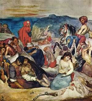 Eugene Delacroix - The Massacre of Chios (2)