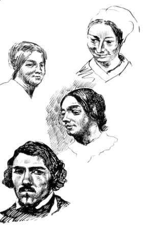 Eugene Delacroix - Page Of A Sketchbook