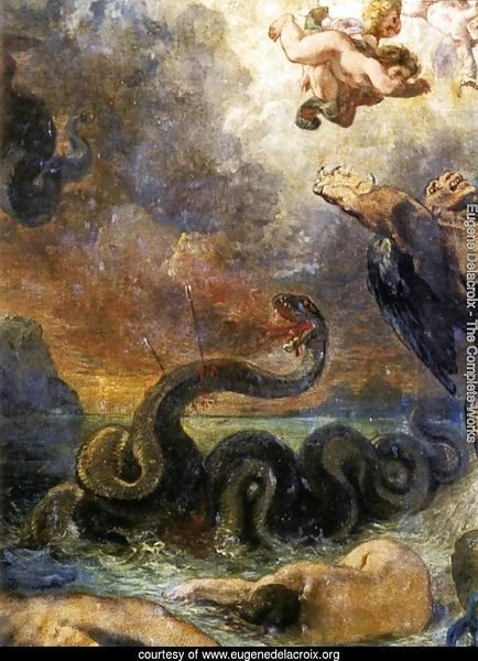 Apollo Slays Python (detail) 1850-51