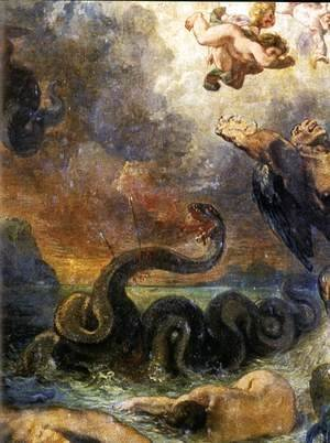 Eugene Delacroix - Apollo Slays Python (detail) 1850-51