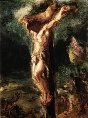 Eugene Delacroix - Christ on the Cross (sketch) 1845