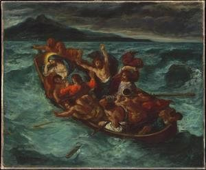 Eugene Delacroix - Christ on the Lake of Gennesaret
