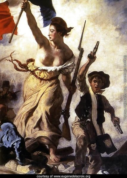 Liberty Leading the People (detail 1) 1830
