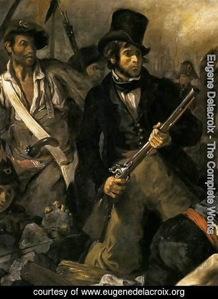 Eugene Delacroix - Liberty Leading the People (detail 2) 1830