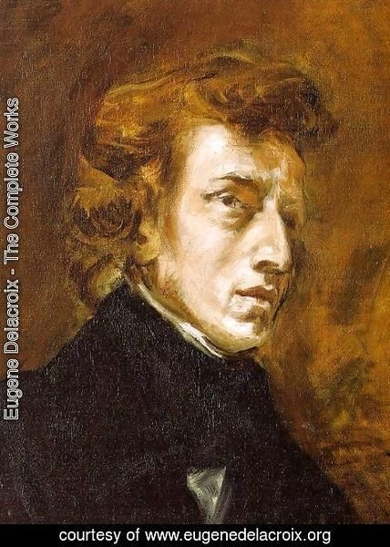 Eugene Delacroix - Portrait of Frédéric Chopin (unfinished) 1838