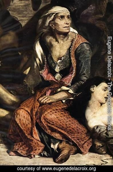 Eugene Delacroix - The Massacre at Chios (1) (detail) 1824