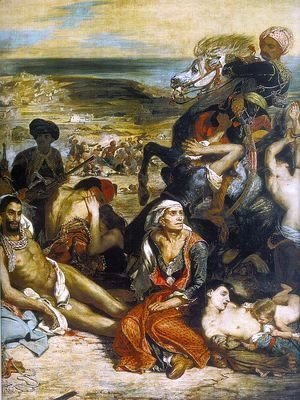 Eugene Delacroix - The Massacre at Chios (1) (detail 2) 1824