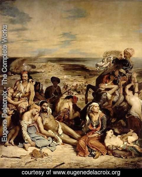 Eugene Delacroix - Massacre at Chios